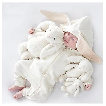 Baby Clothes Cartoon, Sika Deer Jumpsuit Robe With Zipper For Newborns
