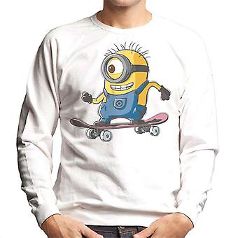 Despicable Me Carl The Minion Skateboarding Men's Sweatshirt