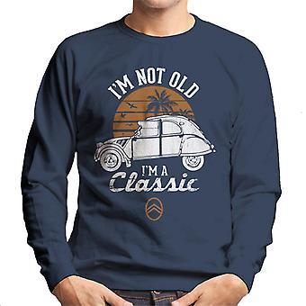 Citro n 2CV Valkoinen I'm Not Old Classic Sunset Men's Collegepaita