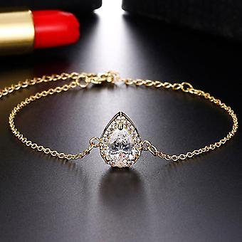 Wedding Inlay Luxury Crystal Bridal Jewelry Set For Bridesmaids