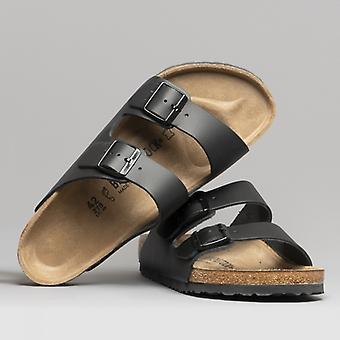 Birkenstock Arizona 51191 (reg) Unisex nahka kaksihihna sandaalit musta