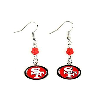 San Francisco 49ers NFL Sophie Style Dangle Earrings