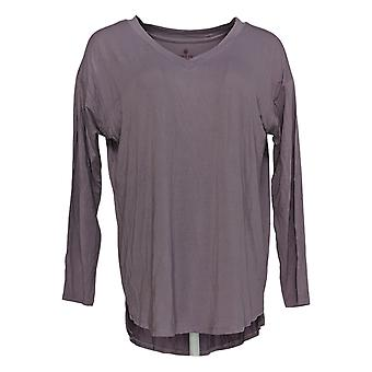 Laurie Felt Women's Top Semi-Fitted Long Sleeve V-Neck Purple A367299