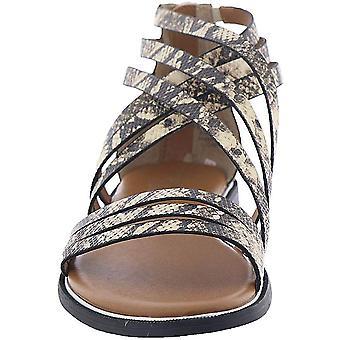 Franco Sarto Womens Gaetana Leather Peep Toe Casual Ankle Strap Sandals