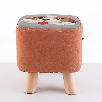 stoff sofa krakk, & apos; s liten rund krakk / hjem kreativ benk og massivt tre liten