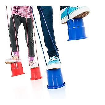 Tub Stilts - Children Walk Stilt Jumping Stilts Balance Trainers With Ropes Toys Feet Outdoor Sports 1 Pair - Random Color