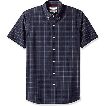 Goodthreads Men's Standard-Fit Kurzarm Plaid Poplin Shirt, -navy windowp...