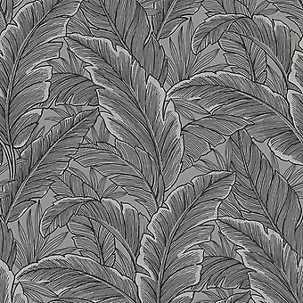Pear Tree Tropical Leaf Grey