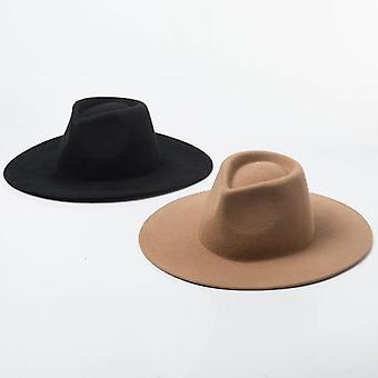 Camel Black 100% Wool Crushable Winter Hats & Derby Wedding Church Jazz Hats
