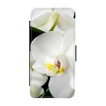 Custodia per portafoglio Orkideer Flowers bianca per iPhone 12 / iPhone 12 Pro