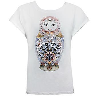 בעלי חיים נשים אלניה גרפי טי מזדמנים קיץ חולצת טריקו לבן CL4WE325 001