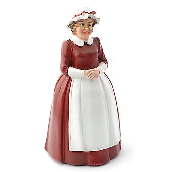 Dolls House Mother Christmas Mrs Santa Claus Miniature 1:12 People Resin Figure