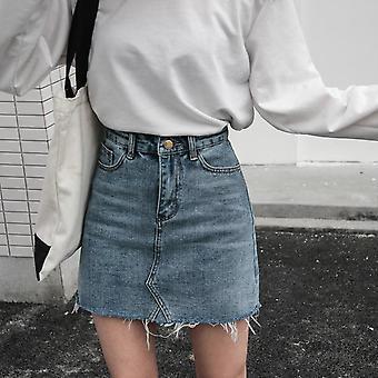 Casual High Waist Pencil Denim Women Summer Jeans Skirt