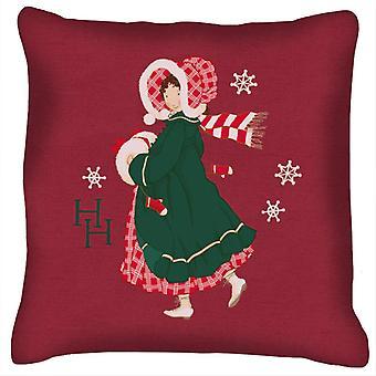 Holly Hobbie Christmas Dress Cushion