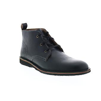 Andrew Marc Dorchester Chukka  Mens Black Leather Chukkas Boots