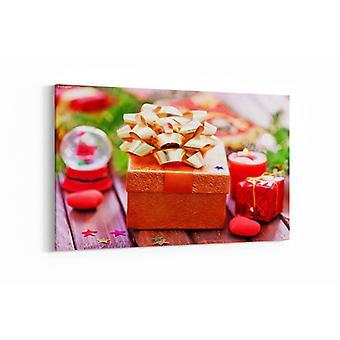 Schilderij - Chocolade in een doos — 90x60cm