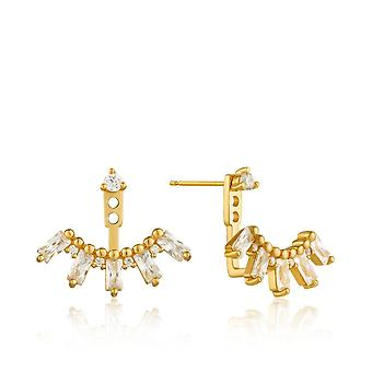 Ania Haie Sterling Silver Shiny Gold Plated Cluster Ear Jacket Earrings E018-13G