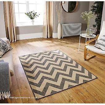 Chevron de moda gris alfombra