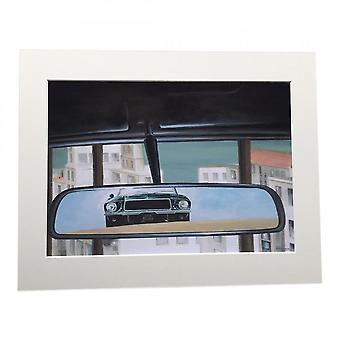 Larrini Bullitt Car Chase A4 Mounted Photo