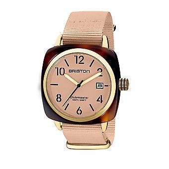 Briston 20240.PYA.T.36.NTN Clubmaster Classic Acetate Wristwatch Beige