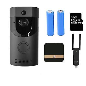 B30- Wifi Doorbell، رنين باب الفيديو الذكي، إنذار التنوب اللاسلكي الداخلي، Ip