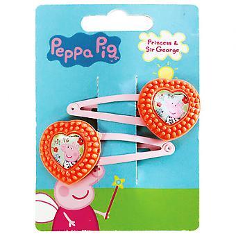 Hair clips Peppa Pig Girls Orange / Pink 2 Pieces