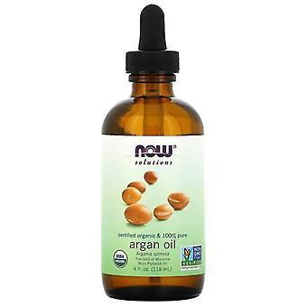 Maintenant aliments, solutions, certifié biologique et 100% huile d'argan pur, 4 fl oz (118 ml)
