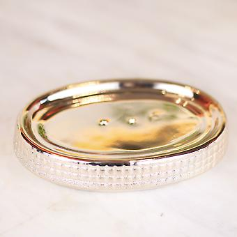 European Style Gold-plated Ceramic Washing Tools Rose Gold Bathroom Accessory