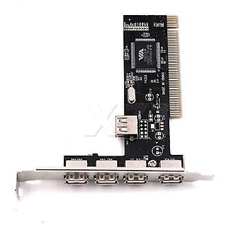 Usb 2.0 4 Port 480mbps High Speed Via Hub Pci Controller Card Adapter