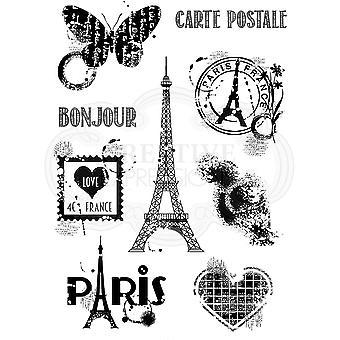 Woodware Clear Singles Paris Elementit 4 x 6 postimerkissä