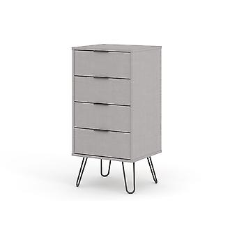 Augustine Grey 4 Drawer Narrow Chest Of Drawers