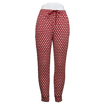 Cuddl Duds Femmes & s Petite Apres Ski Pyjama Pantalon Rouge A381816