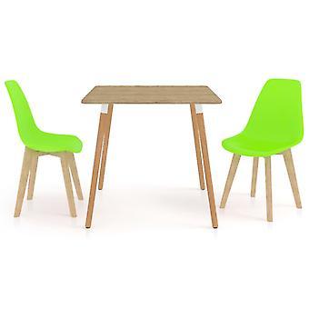 3 Piece Dining Set Green