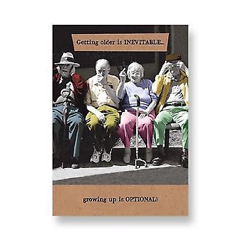 Pigment Riff Raff - Getting Older Is Inevitable - Birthday Card Rw198a