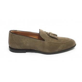 Lenny Men's Loath in Suede With Beige Antelope Hole And Pendagli Us20el10