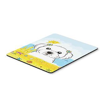 Caroline'S Schätze Malteser Sommer Strand Maus Pad, Hot Pad oder Trivet, Multicolor (Bb2076Mp)