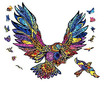 3D wooden puzzle toy children educational jigsaw gift eagle pattern pt8