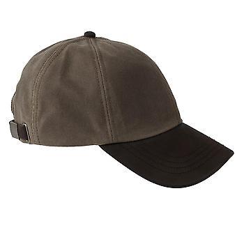ZH009 (BARK ONE SIZE ) Hamilton Wax Leather Peak Baseball Cap