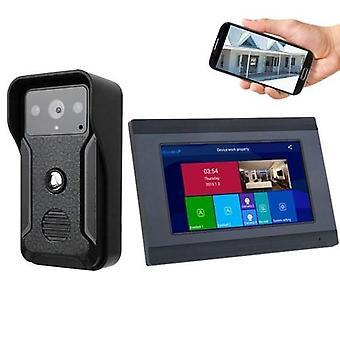 1080p 7 tuumaa WIFI Smart Video Sisäpuhelin Ovikello Ovipuhelin