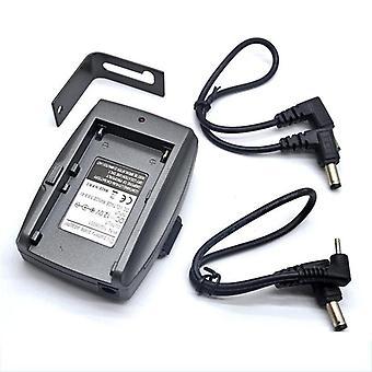 Dc 12v Np-f Battery Power Transfer Supply System Mount Adapter Plate Holder