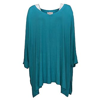 Laurie Felt Women's Fuse Modal Ribbed Knit Pullover Top Green A392627