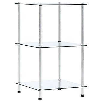 3つの棚が付いているvidaXL棚透明40x40x67 cmの強化ガラス
