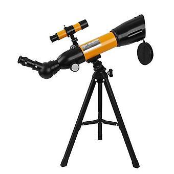 Astronomisk teleskop 90X HD Monokulært teleskop Refraktor Spotting Scope Begynder Kids Telescope med 5×24 Finder Scope Stativ og Kompas til Star Stirrede Bird Watching Camping