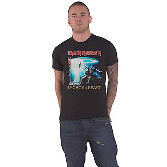 Iron Maiden T Shirt Two Minutes to Midnight Band Logo new Official Mens Black