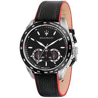 Maserati R8871612028 Men's Traguardo Chronograph Black Strap Wristwatch