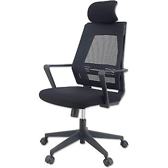 FengChun K300 Office Chair - Ergonomischer Brostuhl + Weiches Sitzkissen  Stoff + Inklusive