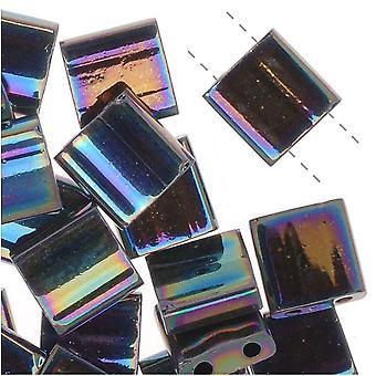 Miyuki Tila 2 hål Fyrkantiga pärlor Medium Blå Iris 7,2 gram