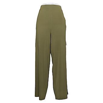リサ リンナ コレクション 女性パンツ レギュラー ワイドレッグ カーゴ グリーン A352968