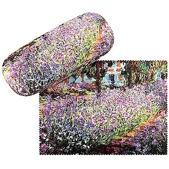 FengChun Brillenetui Blumen Claude Monet: Garten Hardcase Box Leicht Edel Geschenk Stabil Set mit