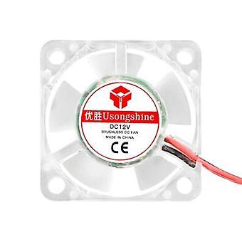 Ventilateur hydraulique lumineux de roulement hydraulique de ventilateur de refroidissement sans brosse d'Aibecy
